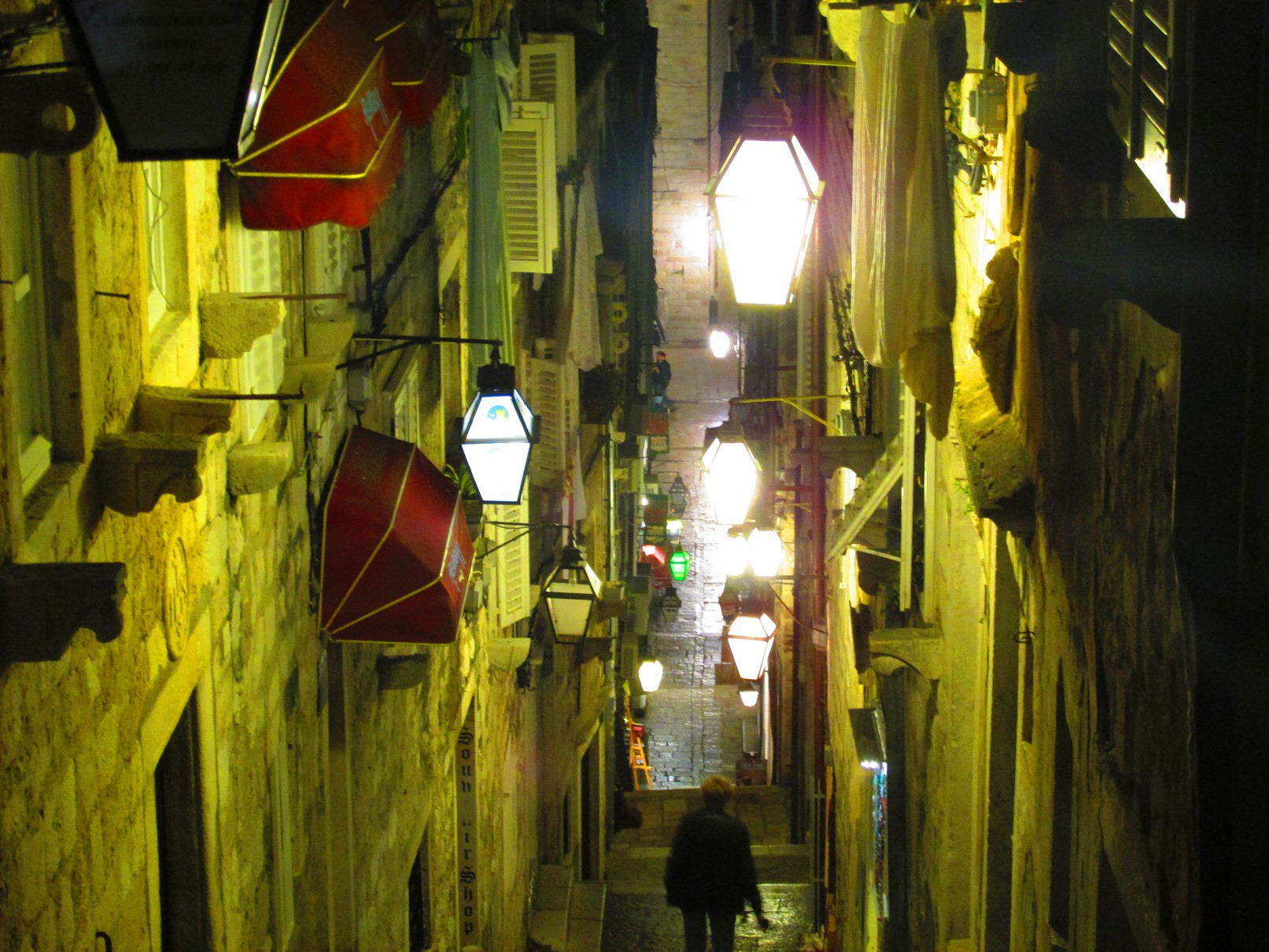 Dubrovnik night lights