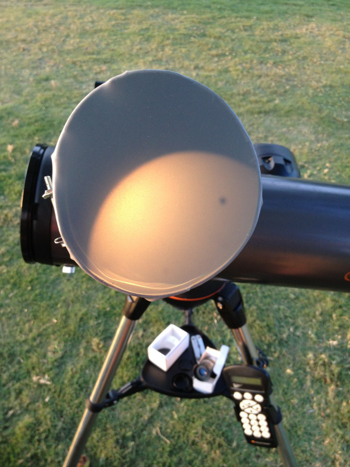 Venus transit viewing device